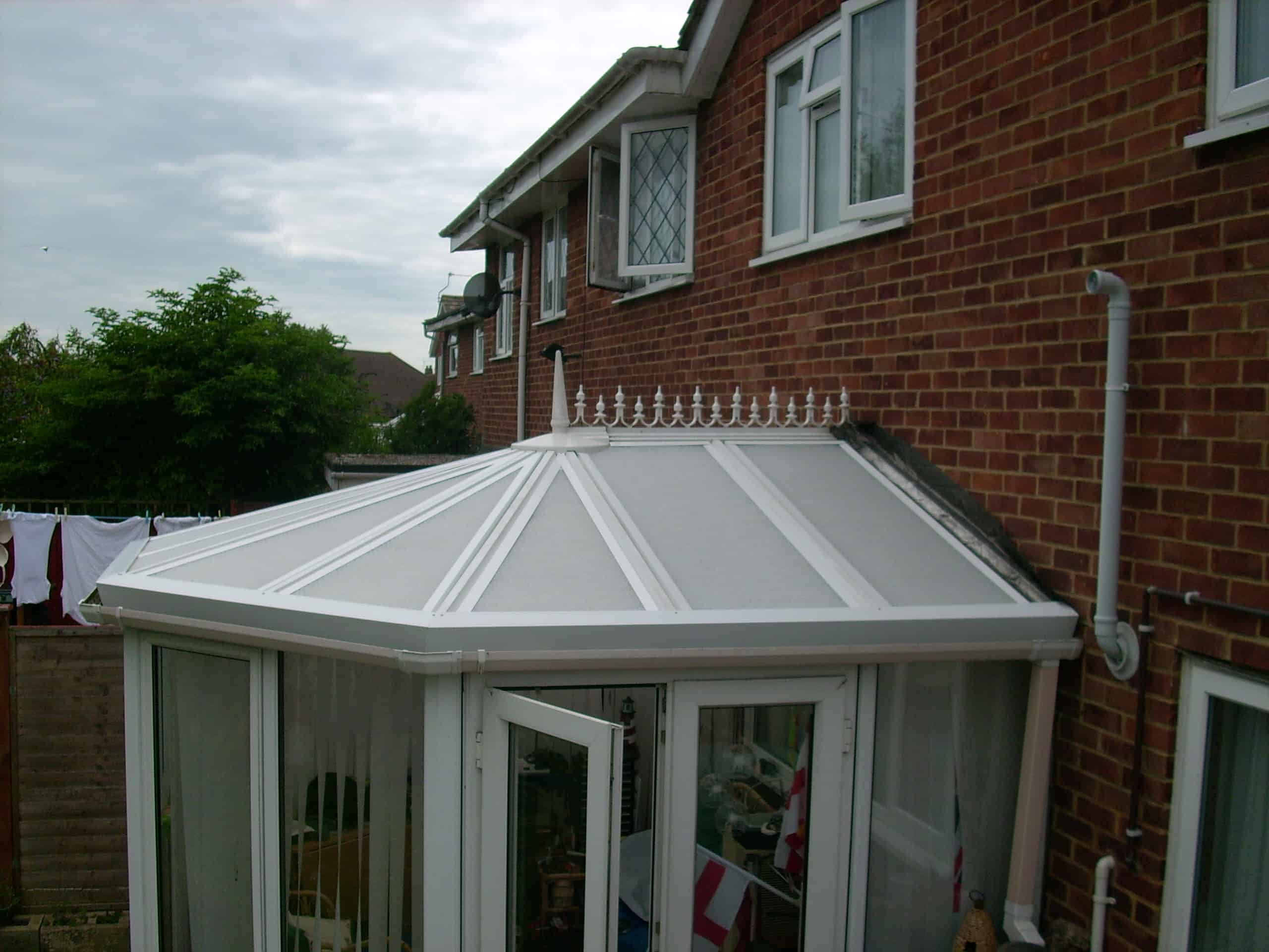 Conservatory roof with Silent Roof installed