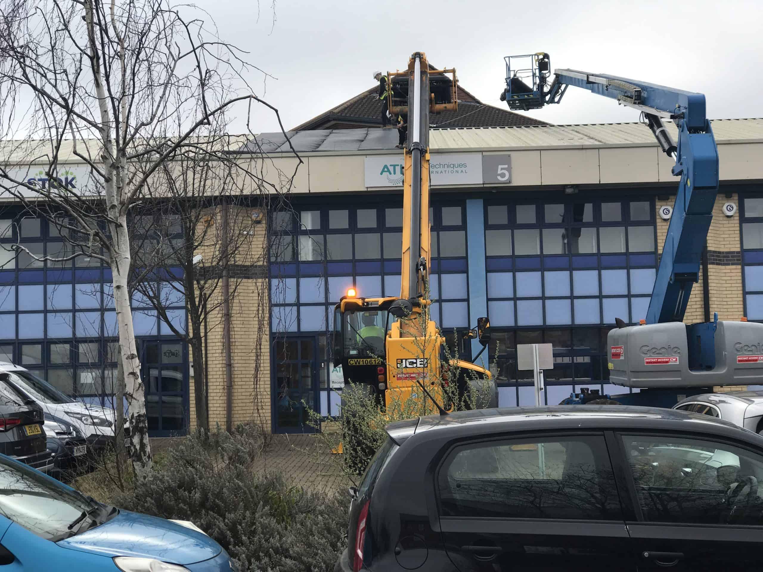 Silent Roof mechanised installation