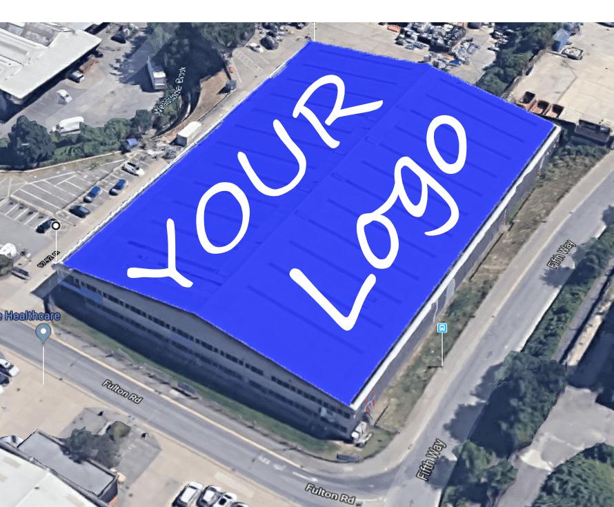 White Logo on BLUE